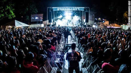 The main stage at the Broccoli City music festival.