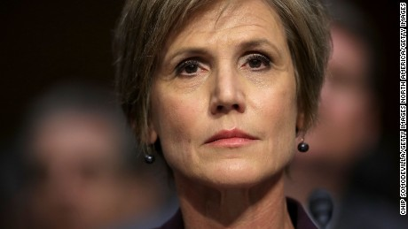 WASHINGTON, DC - MAY 08:  Former acting U.S. Attorney General Sally Yates testifies before the Senate Judicary Committee's Subcommittee on Crime and Terrorism in the Hart Senate Office Building on Capitol Hill May 8, 2017 in Washington, DC. Before being fired by U.S. President Donald Trump, Yates testified that she had warned the White House about contacts between former National Security Advisor Michael Flynn and Russia that might make him vulnerable to blackmail.  (Photo by Chip Somodevilla/Getty Images)