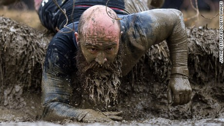 HENLEY-ON-THAMES, ENGLAND - MAY 06: Competitors take part in the Tough Mudder London West at Culden Farm on May 6, 2017 in Henley-on-Thames, England. (Photo by Justin Setterfield/Getty Images)