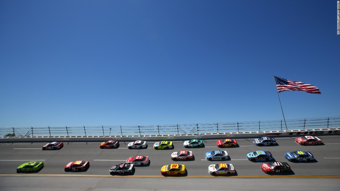 "Brad Keselowki, left, leads the field Sunday, May 7, during the NASCAR Cup Series race in Talladega, Alabama. <a href=""http://www.cnn.com/2017/04/24/sport/gallery/what-a-shot-sports-0425/index.html"" target=""_blank"">See 30 amazing sports photos from last week</a>"