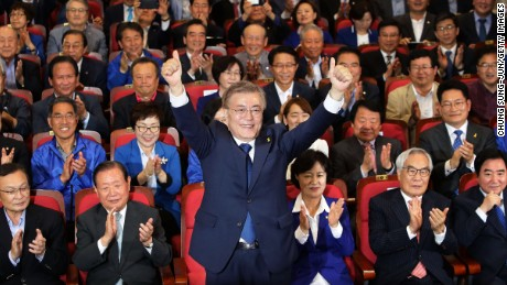 South Korea election: Moon Jae-in claims victory