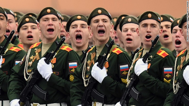 Russia parades military power in Moscow