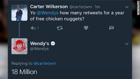 wendys free nuggets tweet breaks retweet record orig vstan_00002103
