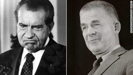 Richard Nixon, left, and Archibald Cox, right.