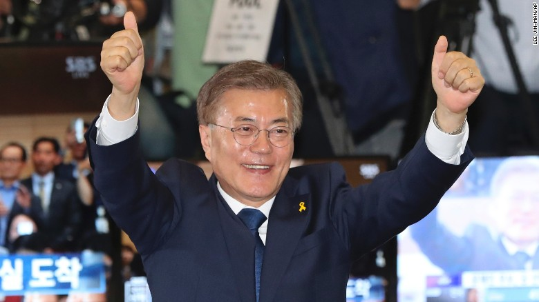 Moon Jae-in declares victory in South Korea
