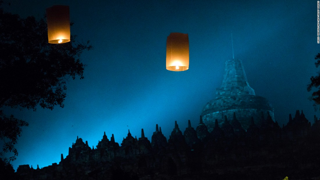 <strong>Borobudur:</strong> Also known as Waisak Day or Vesak Day, the holiday marks the birth of Gautama Buddha -- the father of Buddhism, who is responsible for the religion's core teachings. Observed during the full moon in May, this holy day celebrates his birth, enlightenment to nirvana and passing.