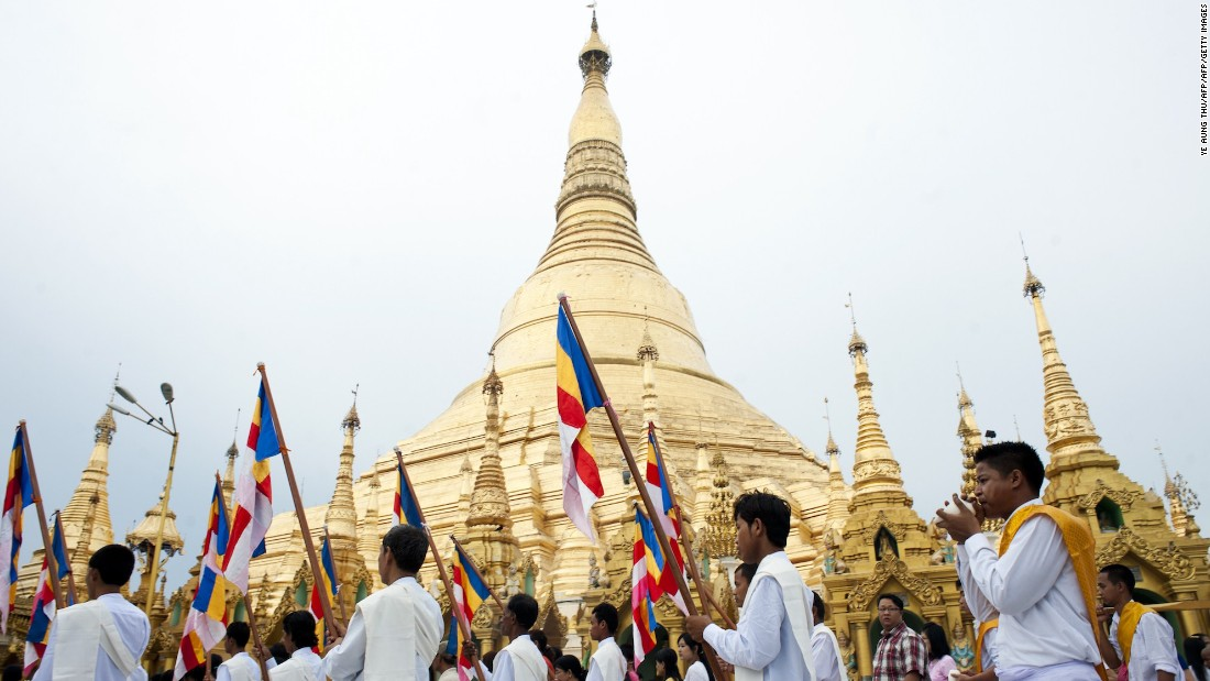 <strong>Yangon, Myanmar: </strong>Yangon's<strong> </strong>Shwedagon Pagoda, which is over 2,500 years old, hosts a number of Buddhist ceremonies to mark the birth, enlightenment and passing of Buddha.