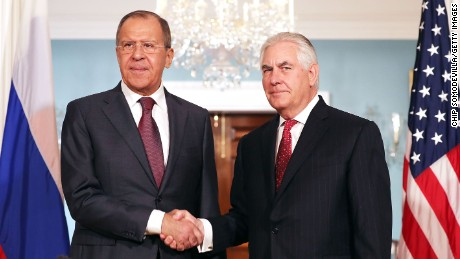 Russian Foreign Minister Sergey Lavrov and US. Secretary of State Rex Tillerson met on Wednesday.