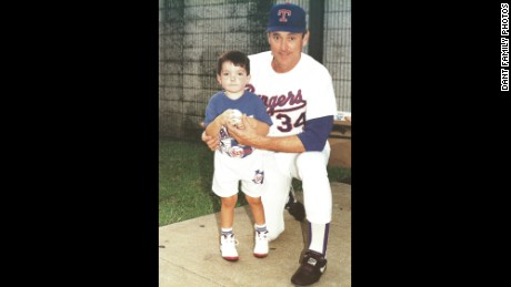 Ryan Dant with baseball legend Nolan Ryan.