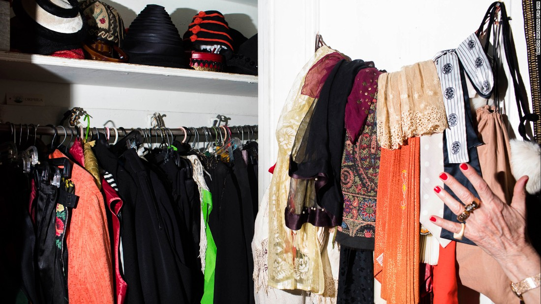 "She took CNN on a tour of her apartment, showing off her impressive collection of clothing and accessories. Hats, she says, are ""the exclamation point."""