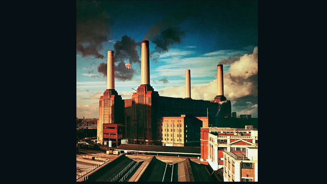 """Their Mortal Remains,"" a new exhibition at London's Victoria and Albert Museum, celebrates the legacy of Pink Floyd. <br /><br />The iconic album artwork of Pink Floyd's tenth studio album, ""Animals,"" features an inflatable pig over Battersea Power Station."