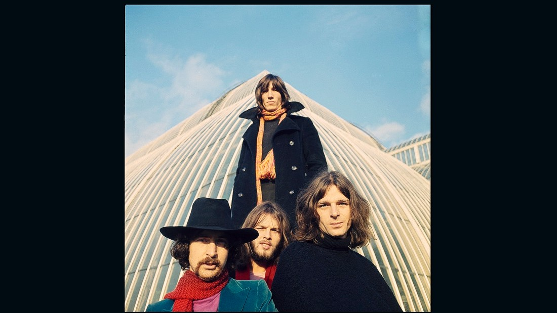 The band in 1969 outside Palm House, Kew Gardens in London.