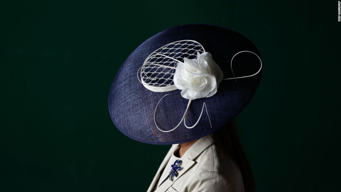"A woman wears a fancy hat before the Kentucky Derby on Saturday, May 6. <a href=""http://www.cnn.com/2017/05/06/style/gallery/kentucky-derby-hats-2017/index.html"" target=""_blank"">See more of this year's Derby hats</a>"