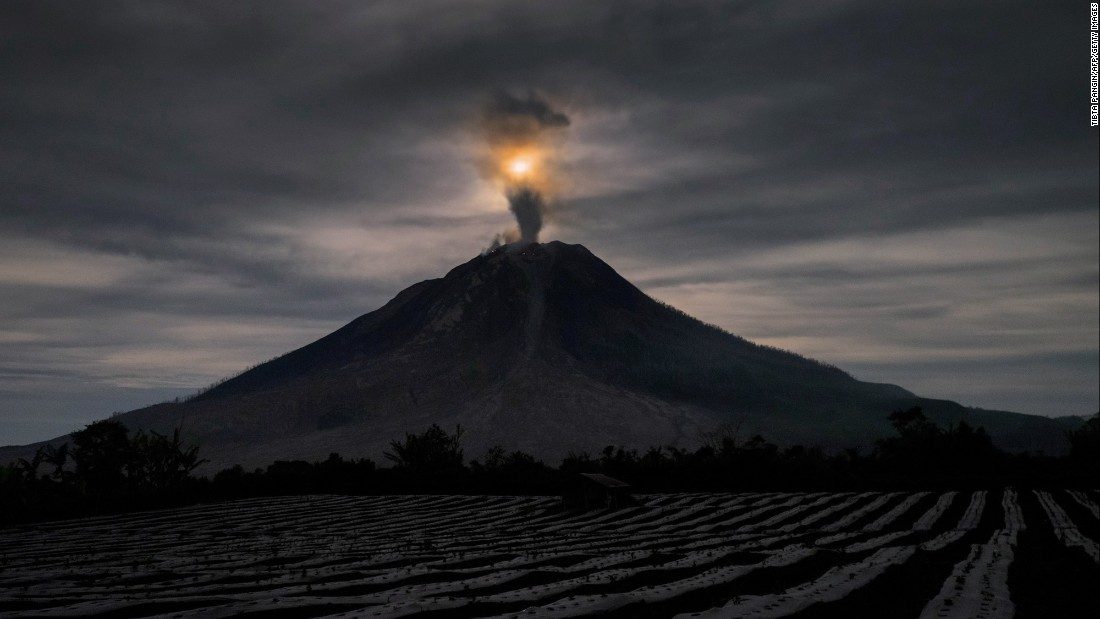 "Mount Sinabung spews volcanic ash in Karo, Indonesia, on Saturday, May 6. <a href=""http://www.cnn.com/2017/05/04/world/gallery/week-in-photos-0505/index.html"" target=""_blank"">See last week in 27 photos</a>"