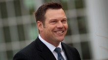 Kris Kobach, Kansas secretary of state, arrives for his meeting with president-elect at Trump International Golf Club, November 20, 2016 in Bedminster Township, New Jersey.