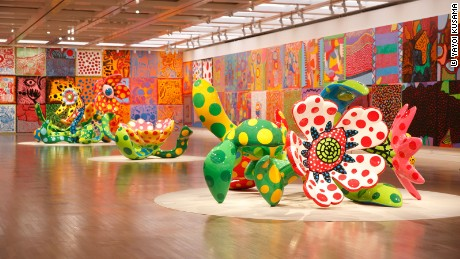 "An exhibition view of the ""Yayoi Kusama: My Eternal Soul"" exhibition at The National Art Center, Tokyo"