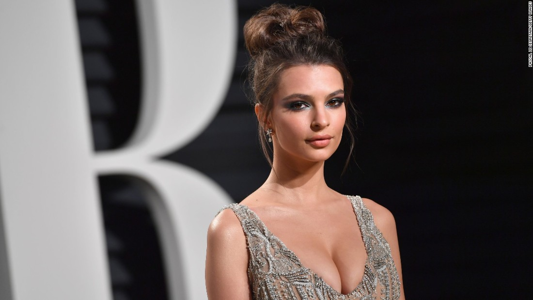 Model and actress Emily Ratajkowski is one of many famous Emilys who could be keeping the name in the top 10; it was ranked No. 9 in 2016.