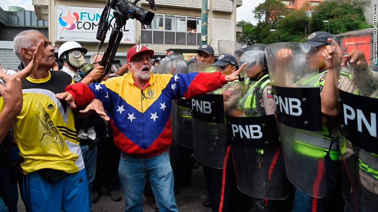 At least 38 Venezuelans have died during weeks of unrest.