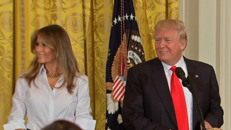 Trump, first lady honor military mothers
