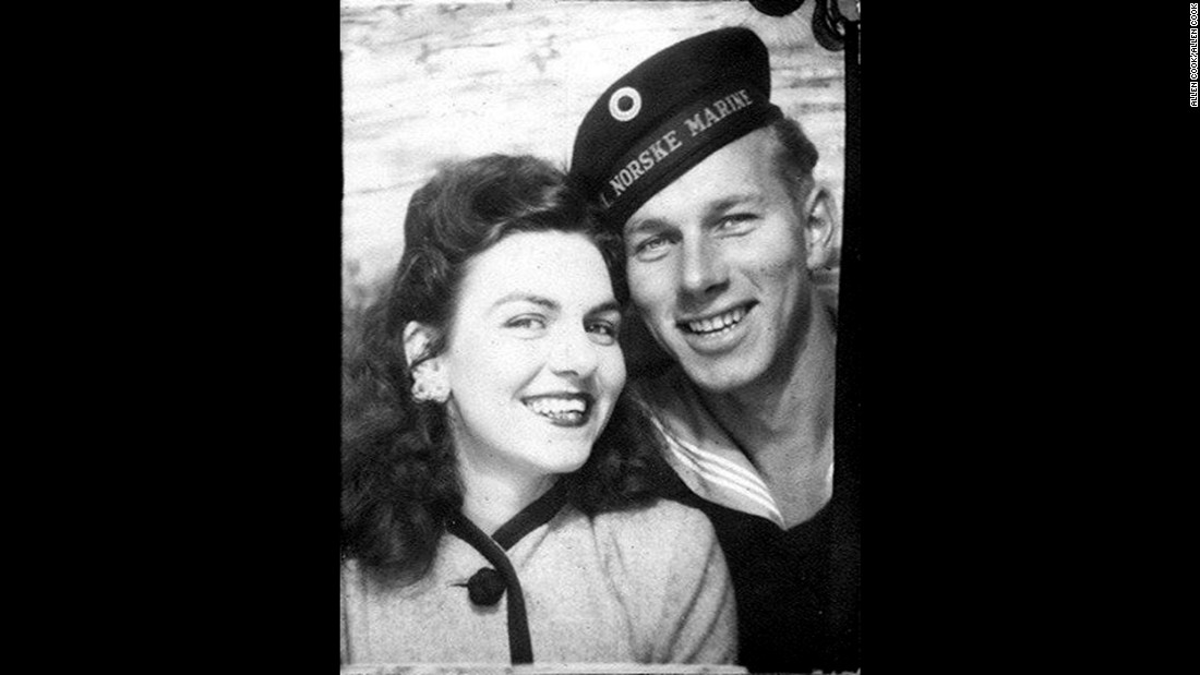 Virginia and Rolf Christoffersen are shown in this undated photo. The long-lost love letter was written by Virginia to Rolf while he was serving in the Norwegian navy in 1945.