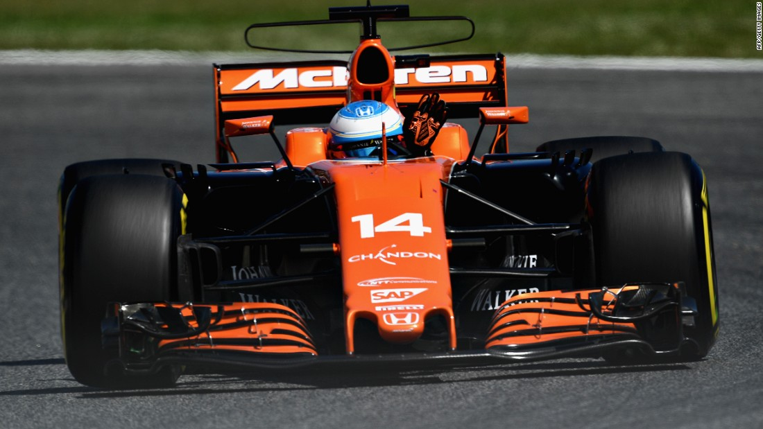 Home favorite Fernando Alonso put in a sensational qualifying lap in his misfiring McLaren to start the race seventh but could only finish 12th in the grand prix.