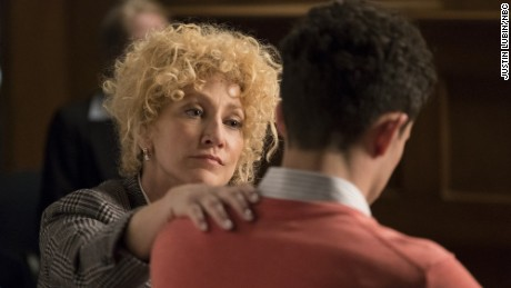"Edie Falco stars as attorney Leslie Abramson in ""Law & Order True Crime: The Menendez Murders."""