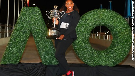 Williams won her 23rd grand slam in January, at the Australian Open. It later transpired she was about eight weeks pregnant.