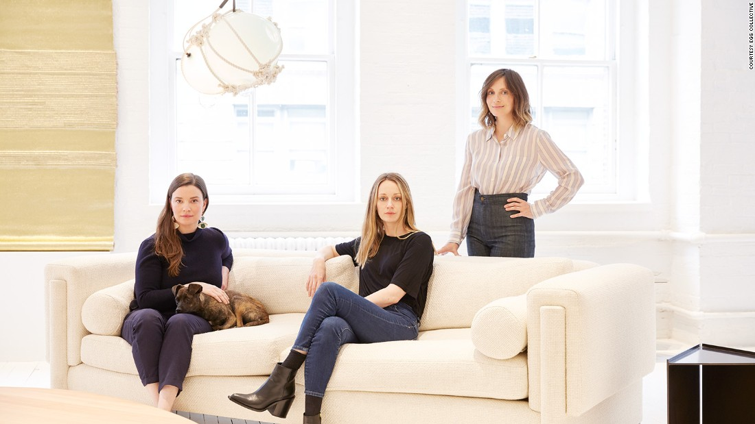 At New York's NYCxDesign festival, several curators are staging exhibitions featuring female designers exclusively. <br /><br />Pictured: Egg Collective founders Stephanie Beamer, Crystal Ellis and Hillary Petrie.