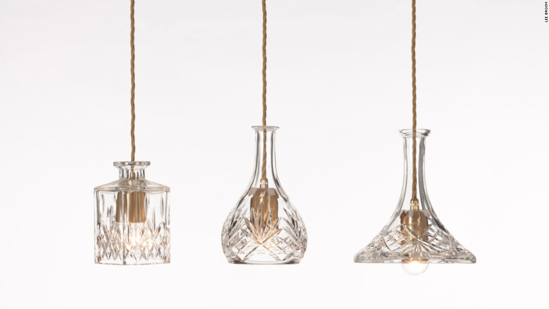 Crafted from hand cut lead crystal, the Decanterlights are inspired by the drinks decanters found in a traditional British drawing room.<br />