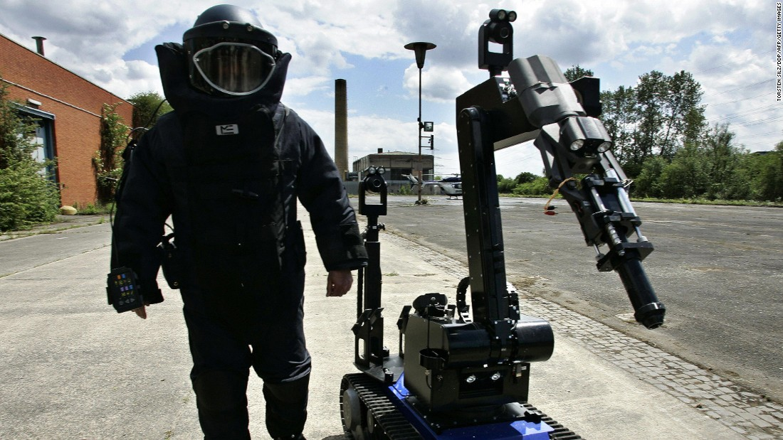 "TEODOR (Telerob Explosive Ordinance Disposal Observation Robot) was on call during the 2006 FIFA Football World Cup in Germany. Built to detect and disarm explosives, the 375kg robot is reportedly used by <a href=""http://www.militarysystems-tech.com/files/militarysystems/supplier_docs/EOD%20Brochure.pdf"" target=""_blank"">20 NATO countries</a>."