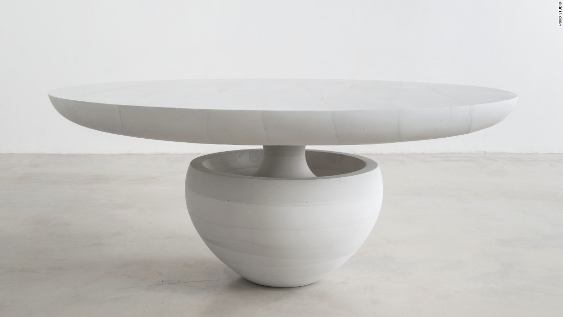 Mastrangelo is presenting his two new series, Ghost and Thaw, at Collective Design in New York. Ghost emphasizes precision and restraint in minimal, geometric pieces cast entirely in cement.