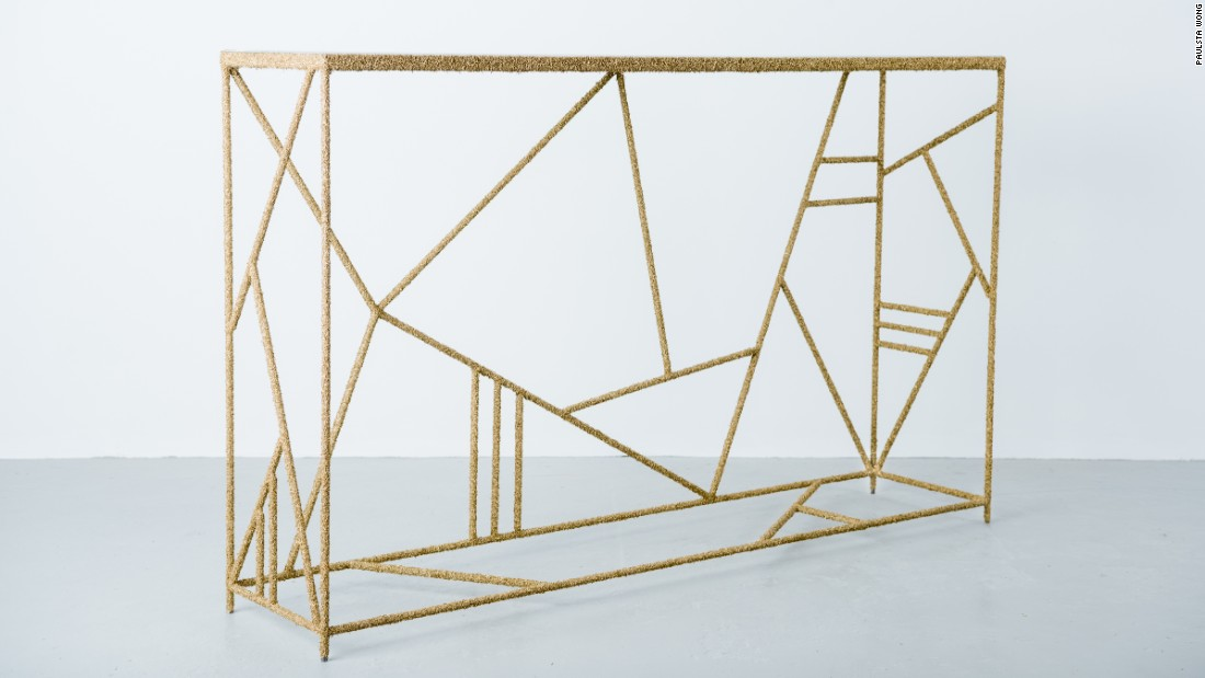 Brass shavings console
