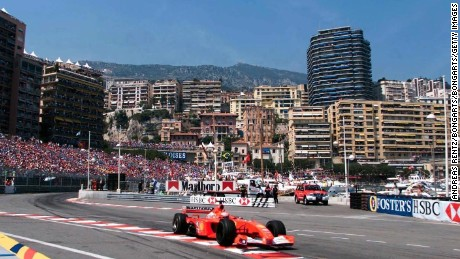 MONTE CARLO, MONACO - MAY 27:  GP VON MONACO 2001, Monte Carlo; SIEGER Michael SCHUMACHER/GER - FERRARI -  (Photo by Andreas Rentz/Bongarts/Getty Images)