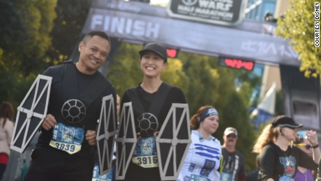 (January 15, 2017): More than 17,000 California runners were part of the 35,000 participants that joined the Rebel Alliances at Disneyland Resort in the third annual Star Wars Half Marathon -- The Light Side. The race weekend featured several intergalactic family-friendly events, including a three-day runDisney Health and Fitness Expo, runDisney Kids Races, the Star Wars 5K, the Star Wars 10K and the Star Wars Half Marathon -- The Light Side. (Disney)