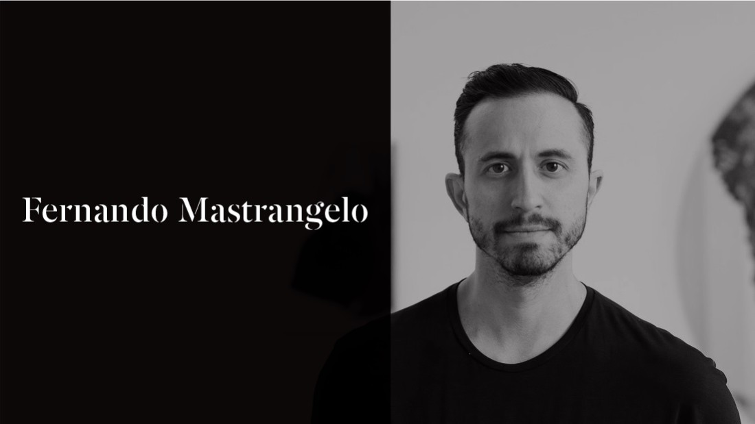 Fernando Mastrangelo is the founder of the design firm Fernando Mastrangelo Studio, which runs out of his Brooklyn studio. He uses materials like salt, coffee, sand, glass and cement to create his sculptures.