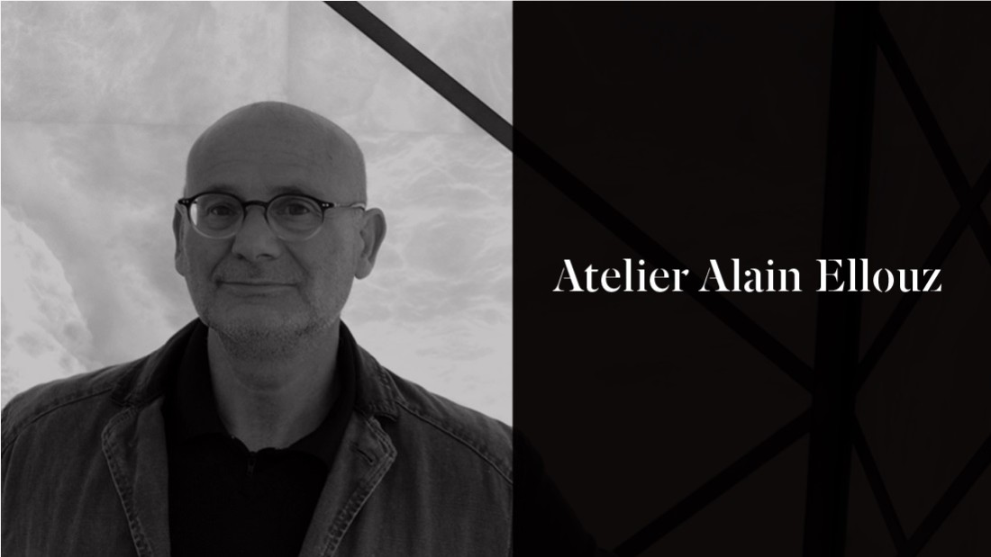 Atelier Alain Ellouz designs interiors, as well as lighting fixtures made from alabaster and rock crystal.