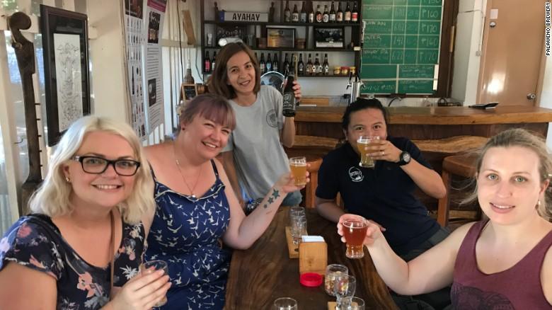 Guests at Palaweno Brewery.