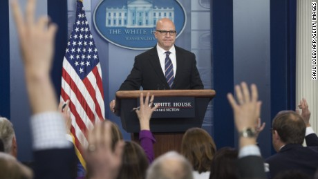 WASHINGTON, DC: US National Security Adviser H. R. McMaster speaks during a briefing in the Brady Press Briefing Room of the White House in Washington, DC, May 16, 2017. (SAUL LOEB/AFP/Getty Images)