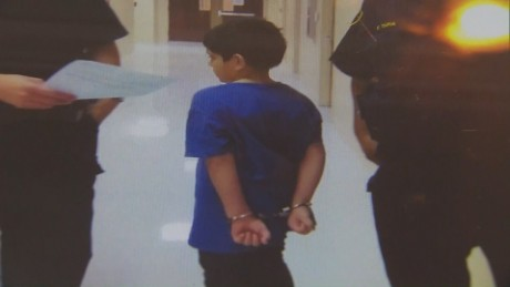 Seven-year-old handcuffed