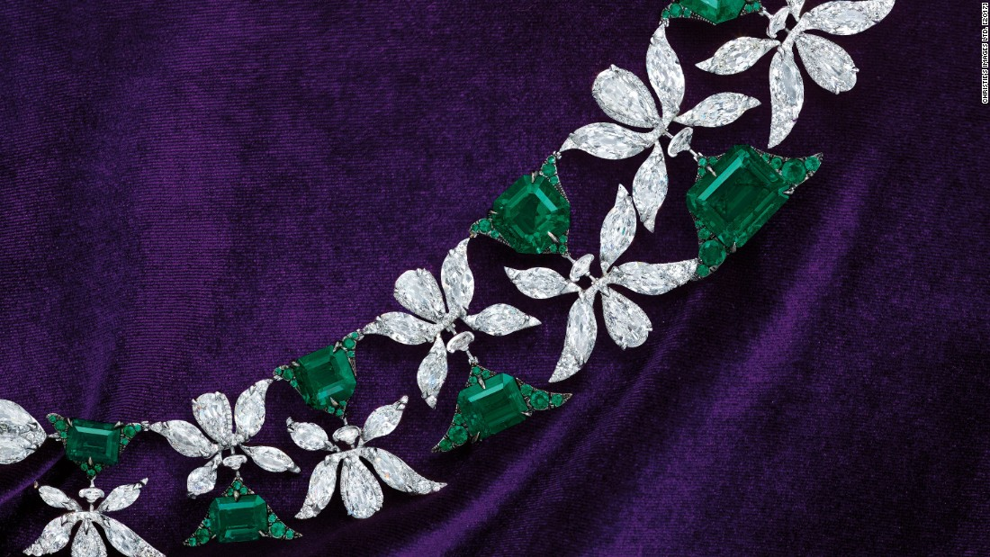 """When you wear it, you see beautiful green flowers coming from the palms, up and down the neck,"" Chin says."