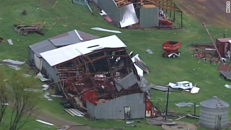 Structures near Chetek Wisconsin were hit by what state officials said was a tornado