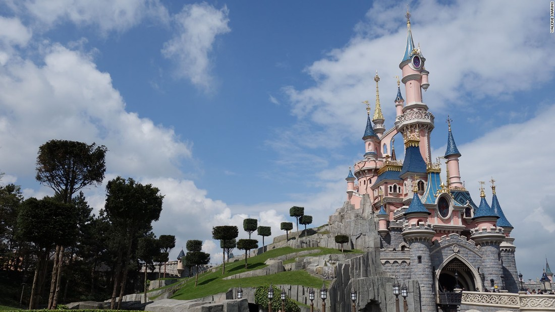 <strong>Le Château de la Belle au Bois Dormant:</strong> Sleeping Beauty Castle is the centerpiece of Disneyland Paris and features a walkthrough attraction telling the story of Sleeping Beauty through stained glass and tapestries.