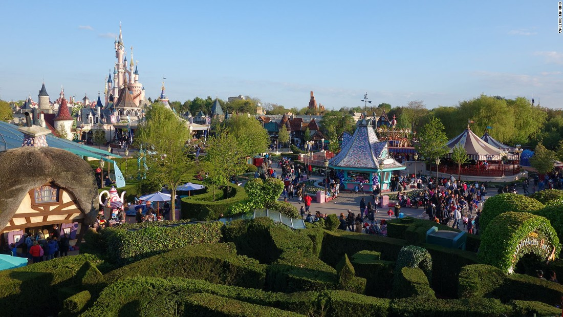 <strong>Fantasyland:</strong> A view of Disneyland Paris' Fantasyland, as seen from the top of the Queen of Hearts' castle.