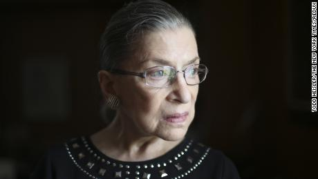 "Justice Ruth Bader Ginsburg in her chambers in Washington, Aug. 23, 2013. Ginsburg on July 14, 2016, apologized for her recent remarks about the candidacy of Donald Trump, saying ""On reflection, my recent remarks in response to press inquiries were ill-advised, and I regret making them."""