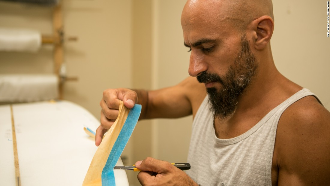 Lebanese surfboard shaper Paul Abbas learned how to make surfboards on YouTube after he struggled to find boards on sale within the region.<br />