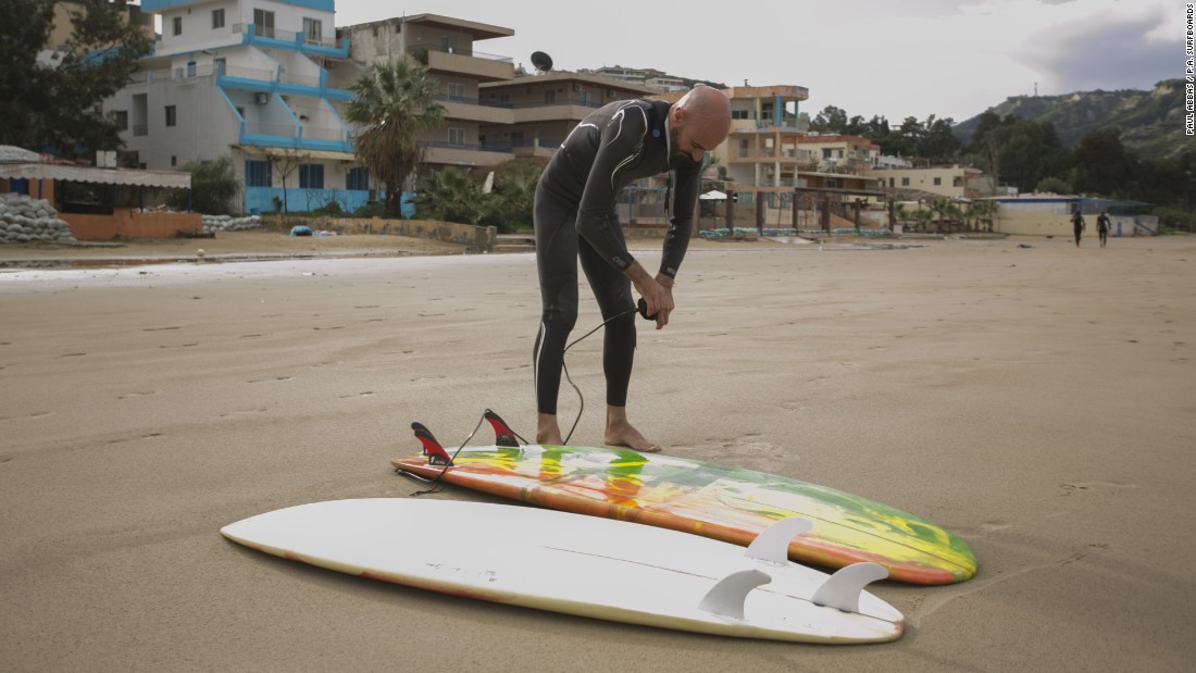 Abbas says his surfboards began to improve after he started surfing as he learned about the physics of surfing and what made a good board.