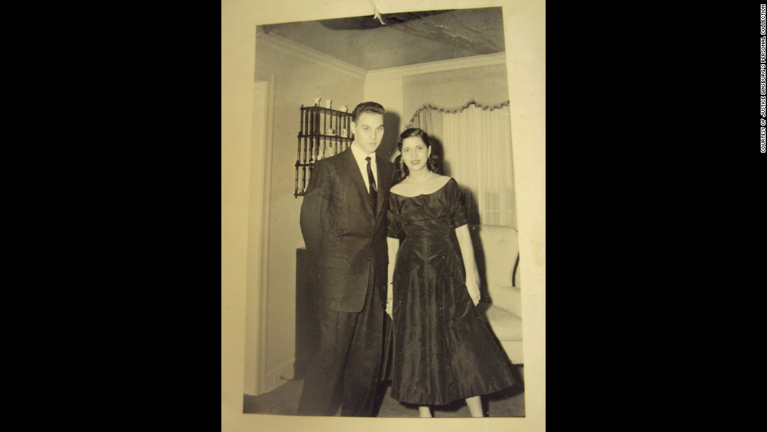 The couple were engaged in December 1953. They met while attending Cornell University, and both went on to study law.