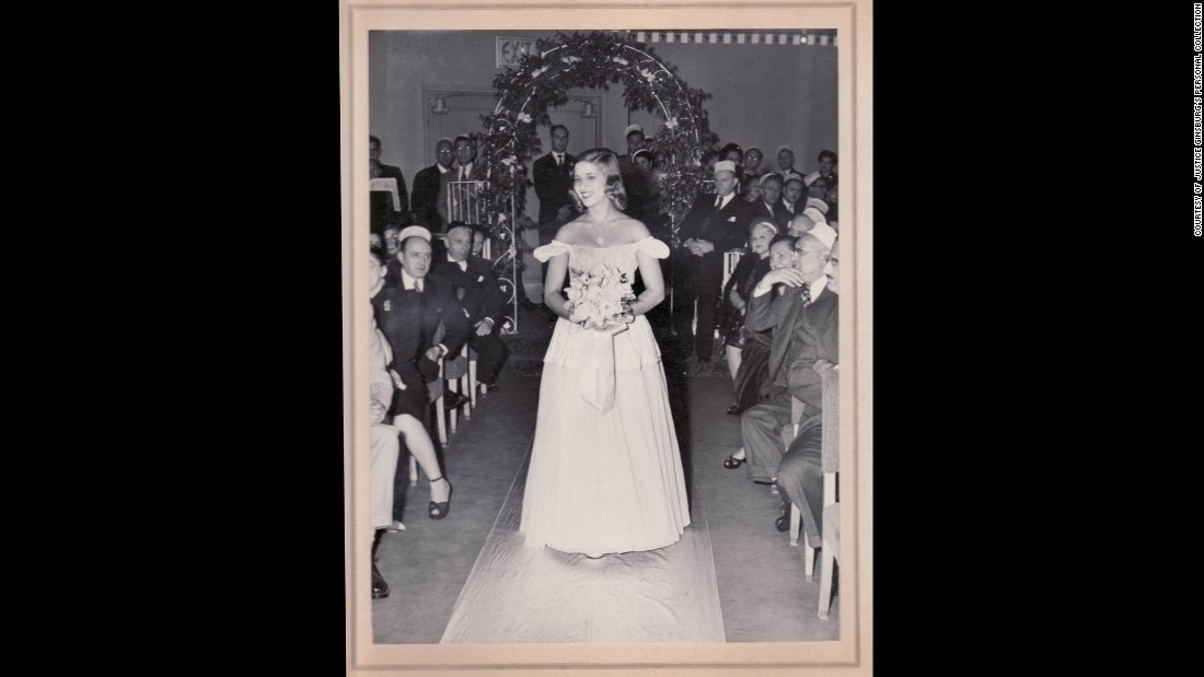 Ginsburg is the maid of honor at a cousin's wedding in 1951.