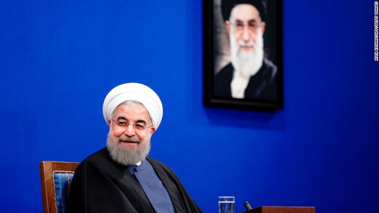 Rouhani won a second term as president in May.