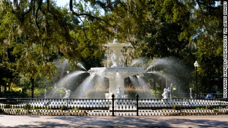 UNITED STATES - 2010/11/12: USA, Georgia, Savannah, Historic District, Forsyth Park, Fountain. (Photo by Wolfgang Kaehler/LightRocket via Getty Images)